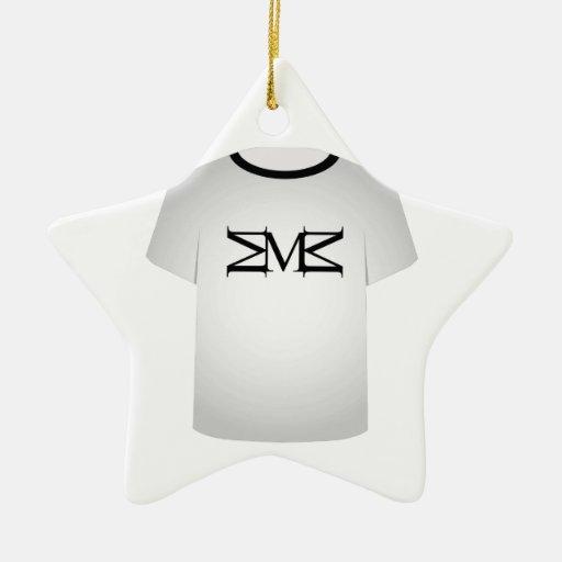 T Shirt Template- Capital letter M Ornaments