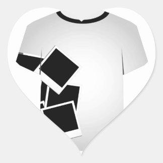 T Shirt Template collage Heart Sticker
