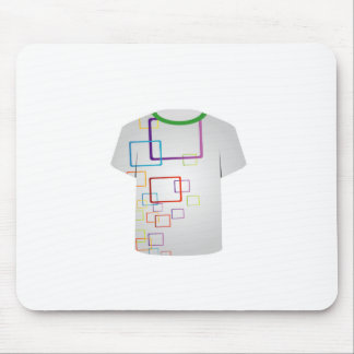 T Shirt Template-colorful blocks Mouse Pads