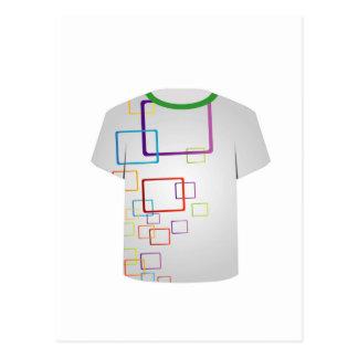 T Shirt Template-colorful blocks Postcard