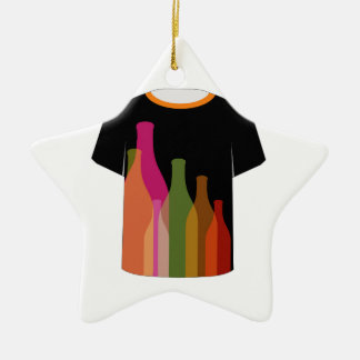 T Shirt Template- colorful bottles Christmas Ornament