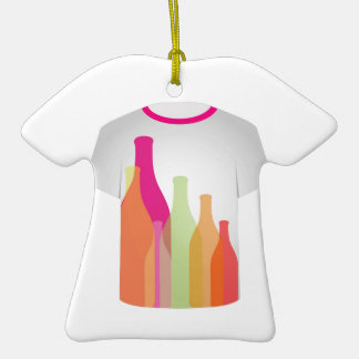 T Shirt Template- colorful bottles Christmas Tree Ornament