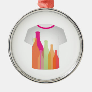 T Shirt Template- colorful bottles Christmas Ornaments