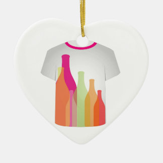 T Shirt Template- colorful bottles Christmas Tree Ornaments