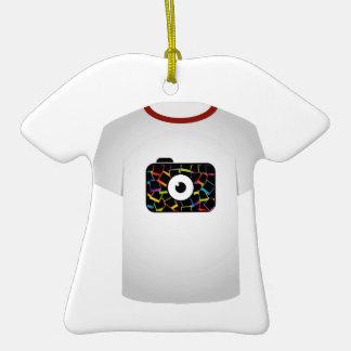 T Shirt Template-digital camera Double-Sided T-Shirt Ceramic Christmas Ornament