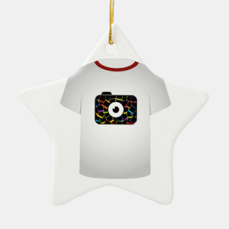 T Shirt Template-digital camera Double-Sided Star Ceramic Christmas Ornament