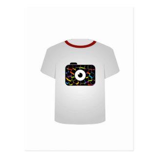 T Shirt Template-digital camera Postcard