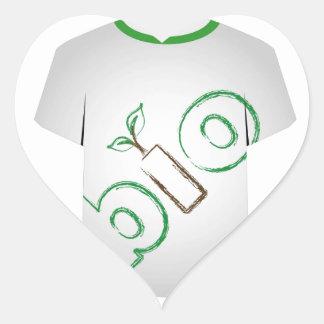 T Shirt Template- eco friendly Heart Sticker