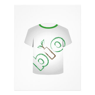 T Shirt Template- eco friendly Customized Letterhead
