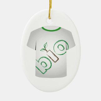 T Shirt Template- eco friendly Christmas Ornament