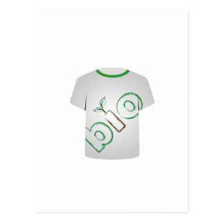 T Shirt Template- eco friendly Postcard