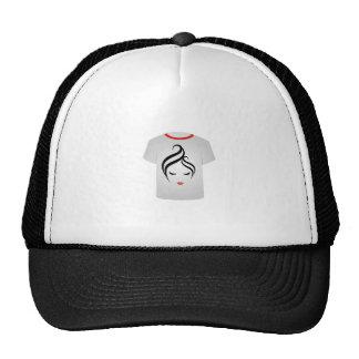 T Shirt Template- Fashion Model Trucker Hat