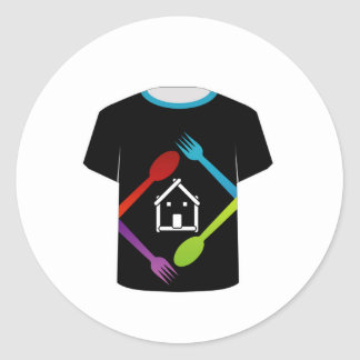 T Shirt Template- food lover Classic Round Sticker