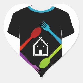 T Shirt Template- food lover Heart Sticker