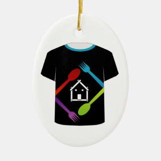 T Shirt Template- food lover Christmas Tree Ornaments