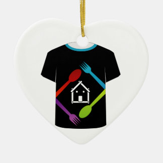 T Shirt Template- food lover Christmas Ornament