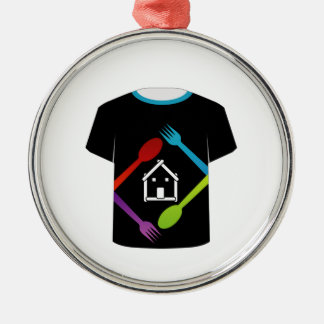T Shirt Template- food lover Christmas Tree Ornament