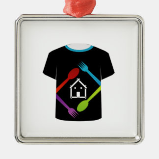 T Shirt Template- food lover Christmas Ornaments