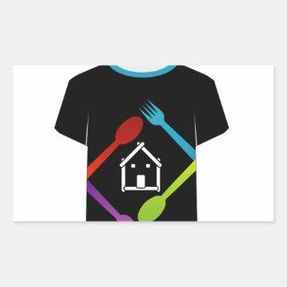 T Shirt Template- food lover Rectangular Sticker