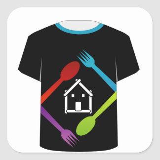 T Shirt Template- food lover Square Sticker