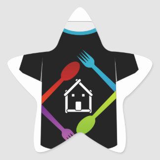 T Shirt Template- food lover Star Sticker