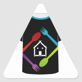 T Shirt Template- food lover Triangle Sticker