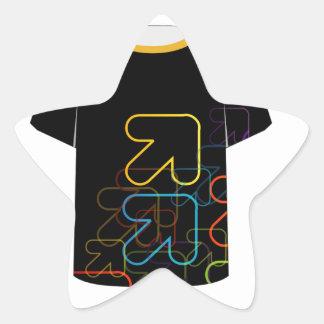T Shirt Template- fractal arrows Star Sticker