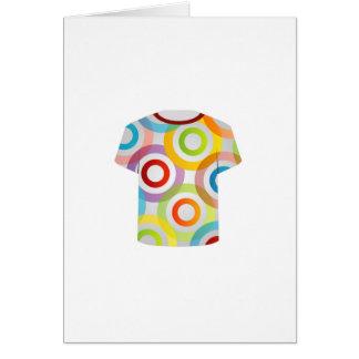 T Shirt Template-fractal rings Card