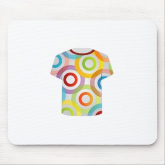 T Shirt Template-fractal rings Mouse Pad
