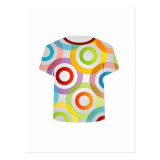 T Shirt Template-fractal rings Postcard