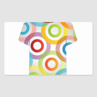 T Shirt Template-fractal rings Rectangular Sticker