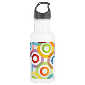 T Shirt Template-fractal rings Stainless Steel Water Bottle