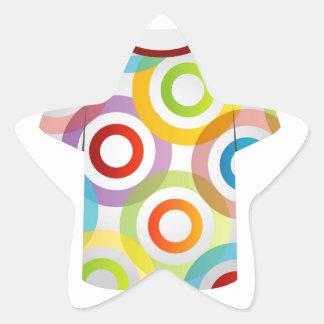 T Shirt Template-fractal rings Star Sticker