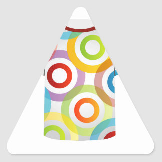 T Shirt Template-fractal rings Triangle Sticker