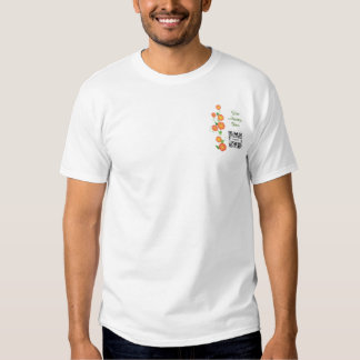 T-shirt Template Generic Orange Flowers