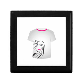 T Shirt Template- Glamor Model Jewelry Boxes
