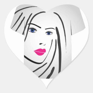 T Shirt Template- Glamor Model Heart Sticker
