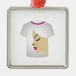 T Shirt Template- Glamor Model Christmas Tree Ornaments