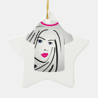 T Shirt Template- Glamor Model Christmas Ornaments