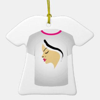 T Shirt Template- Glamor Model Christmas Ornament