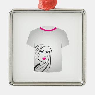 T Shirt Template- Glamor Model Ornaments