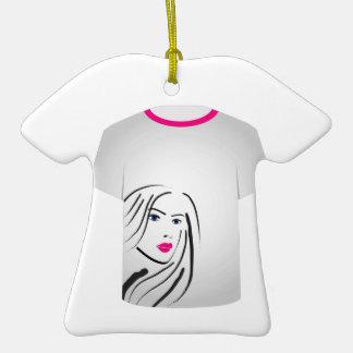 T Shirt Template- Glamor Model Ornament