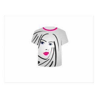 T Shirt Template- Glamor Model Postcard