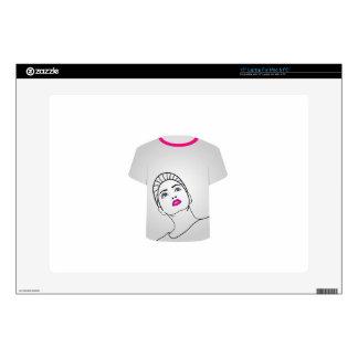 T Shirt Template- Glamor Model Skins For Laptops
