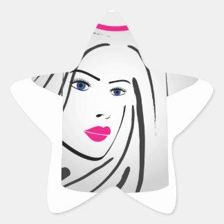 T Shirt Template- Glamor Model Star Sticker