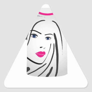 T Shirt Template- Glamor Model Triangle Sticker