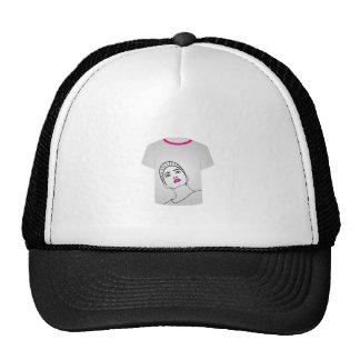 T Shirt Template- Glamor Model Trucker Hat