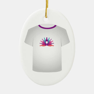 T Shirt Template- party Ceramic Ornament