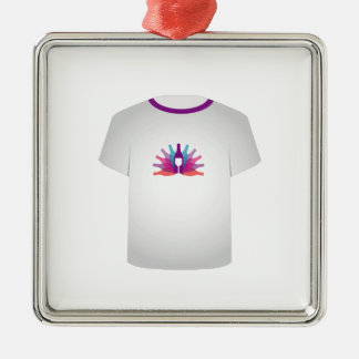 T Shirt Template- party Metal Ornament