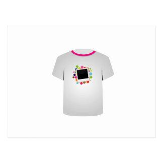 T Shirt Template- Polaroid Postcard